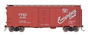 Fort Worth & Denver AAR 40' Modified Boxcar Assorted #s N - InterMountain #65809