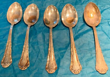 Set Of 5 Vintage Marked 800 Silver Alloy Spoons 41.5g