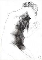 """Emilio GRECO """"Ombra"""" , 1966 RARA litografia originale firmata"""