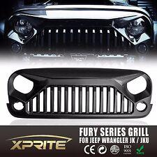 Xprite Angry Monster Jeep Wrangler JK 07-17 Front Matte Black Grille Grid