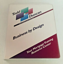 Todd Duncan Business by Design Your Mortgage Training Resource Audio Cassettes