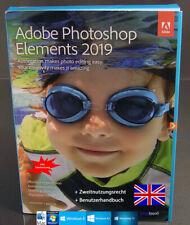 Adobe Photoshop Elements 2019 Vollversion Englisch Box + DVD Win/Mac OVP NEU