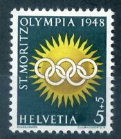 Switzerland 1948 5c+5c Winter Olympics stamp unmounted mint
