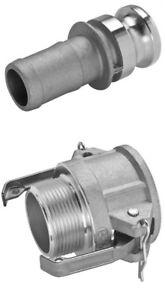 Camlock 2 inch BSP Set | Type B E | Aluminium | 50mm | Fire Pump hose