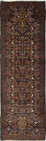 """Hand-knotted Carpet 2'11"""" x 9'2"""" Traditional Vintage Wool Rug"""