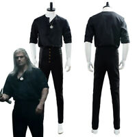 Geralt of Rivia Cosplay Costume Casual Wear Outfit Uniform Full Set