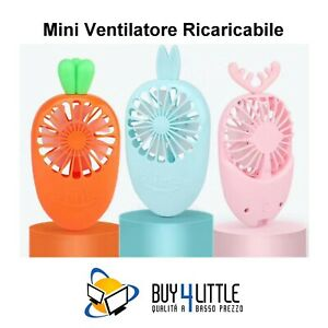 "mini ventilatore super mute a batteria Blu con LED con scritta /""Ich Liebe Dich/"" Not null Armine88 Mini ventilatore a mano Come mostrato in foto."