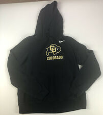 Womens Large Colorado Buffaloes Nike Therma Fit black hoodie sweatshirt