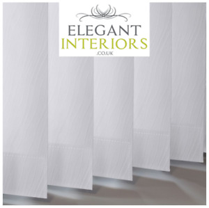 Chenille Snocap Dimout Patterned White - Made To Measure Complete Vertical Blind