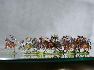 Cbg Allgeyer Heinrichsen Bundle 18 Soldiers Cavalry End 19ème Dish Tin New