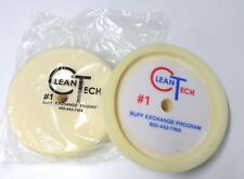 "New White Recessed Back Foam Pad 8"" Clean Tech Hook & Loop Gripping Pad 2900G"