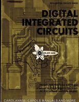 DIGITAL INTEGRATED CIRCUITS -1969 AC Electronics Div of GMC