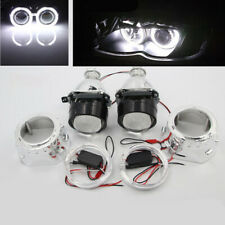 "2.5"" HID Bi-xenon Projector Lens LHD/RHD Headlight with Light Guide Angel Eye H1"