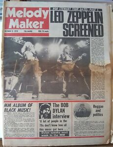 Melody Maker Oct 9th '76 - Led Zeppelin Queen Can Sparks Dr Feelgood Marvin Gaye