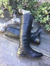 $1,495 Golden Goose Charlye Women's Riding Boots, Black, Size 39