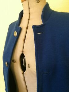 1960s wool cardigan coat coatigan mid blue