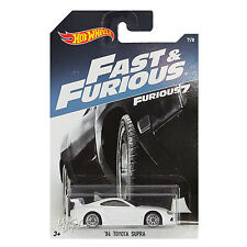 NEW 2016 Hot Wheels 1:64 Die Cast Car Fast & Furious White '94 Toyota Supra 7/8