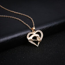 Halskette mit Anhänger Herz Liebe Mutter Kind Hand gold