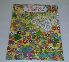 Adult Coloring Book Floral Grown Up Coloring Book  Printed on one side  only