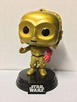 C-3PO RED ARM FIGURE #64 FUNKO POP! VINYL STAR WARS SERIES COMBINED P&P! C3PO