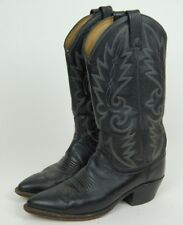 Dan Post Mens Cowboy Boots Soft Black on Black Leather Western Riding Boots 7D