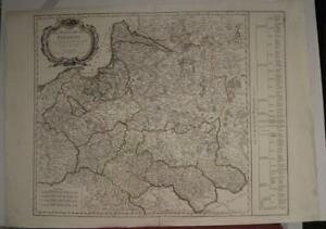 POLAND & LITHUANIA 1776 VAUGONDY & SANTINI ANTIQUE ORIGINAL COPPER ENGRAVED MAP