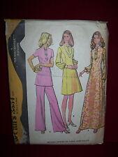 1973 McCALL'S #3534 - LADIES ORIENTAL INFLUENCED DRESS-TUNIC & PANTS PATTERN  10