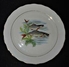 assiette à poisson - décor rivière - porcelaine de limoges -1