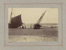 Trouville Marée basse Photographie poétique Vintage citrate vers 1900
