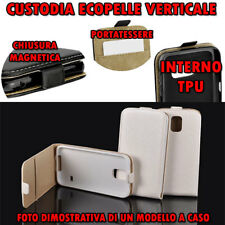 Custodia per Microsoft Lumia 950 in Ecopelle apertura verticale cover Tpu Bianco