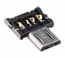 Micro USB Typ B auf USB Buchse Typ A 2.0 mini OTG Adapter Host Stick Stecker NEU