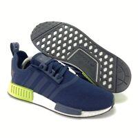 Adidas Men's Originals NMD_R1 Legend Ink Hi-Res Yellow Running Shoes Size 9.5