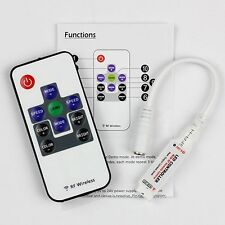 RF Wireless Remote Dimmer Mini Controller for RGB LED Strip Light DC5V~24V