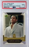 Promo: 2004 04 Upper Deck Naxcom LeBron James Rookie RC #NNO, Graded PSA 9