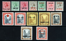 BAHAMAS KG V 1917-19 WAR TAX Issues SG 90 to SG 105 MINT