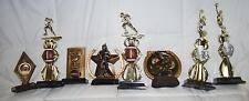 Lot Of 8 Assorted Resin Decorative Football And Cheer Trophies