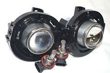 Glass Driving Fog Light Lamp w/Metal Body & 2 Bulbs A Pair For 2013 Challenger