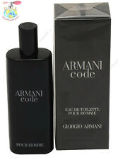 Armani Code by Giorgio Armani for Men Edt 0.50 oz / 15 ml Spray New In Box