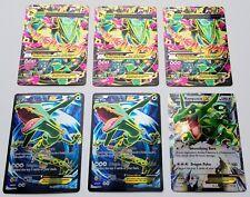 """3x """"Mega"""" M Rayquaza EX Full Art #105 + 2x Rayquaza EX #104 + 1x Rayquaza EX #75"""