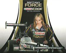 Brittany Force 2013 Version #1 Castrol EDGE NHRA Drag Racing Top Fuel HANDOUT