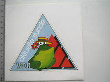 Aufkleber Sticker WDR - Aktuelle Stunde Wetter Frosch - Fernsehen (M1548)