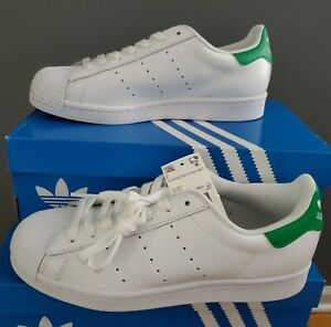 "NEW AUTHENTIC ADIDAS ORIGINALS SUPERSTAR STAN SMITH ""WHITE GREEN"" MEN'S US 8"