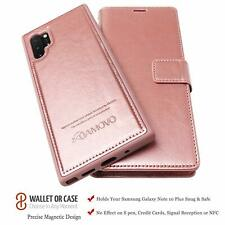 Samsung Galaxy Note 10 Plus Wallet Case Detachable Leather Folio Stand Rose Gold