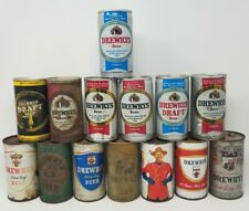 Drewrys Beer Can Lot Vintage Flat Top Pull Tab Extra Dry