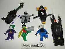 McDonalds Lego Batman The Video Game 7 Toy Lot 2008 Robin Joker Batmobile Freeze