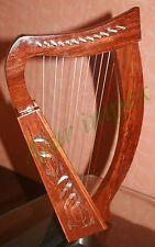12 String Celtic Harp - Rosewood Irish Engraved Harp+ Bag/ Harp 12 Strings///