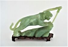 Large Chinese  Jade or Other Hard Stone Lion Statue Figurine Carving