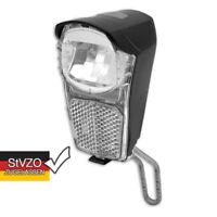 LED Fahrrad Scheinwerfer incl. 2 AA Batterien Reflektor STVZO K1349