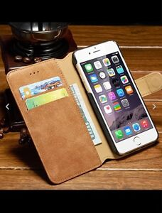 Leather iPhone 6 iPhone 6S iPhone 7 Wallet Case Cover Viewing Stand Card Slot