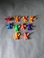"10 Vintage Mattel Action Figure Lot 1985 2"" Kinnikuman toy 1 poppy Bandai"